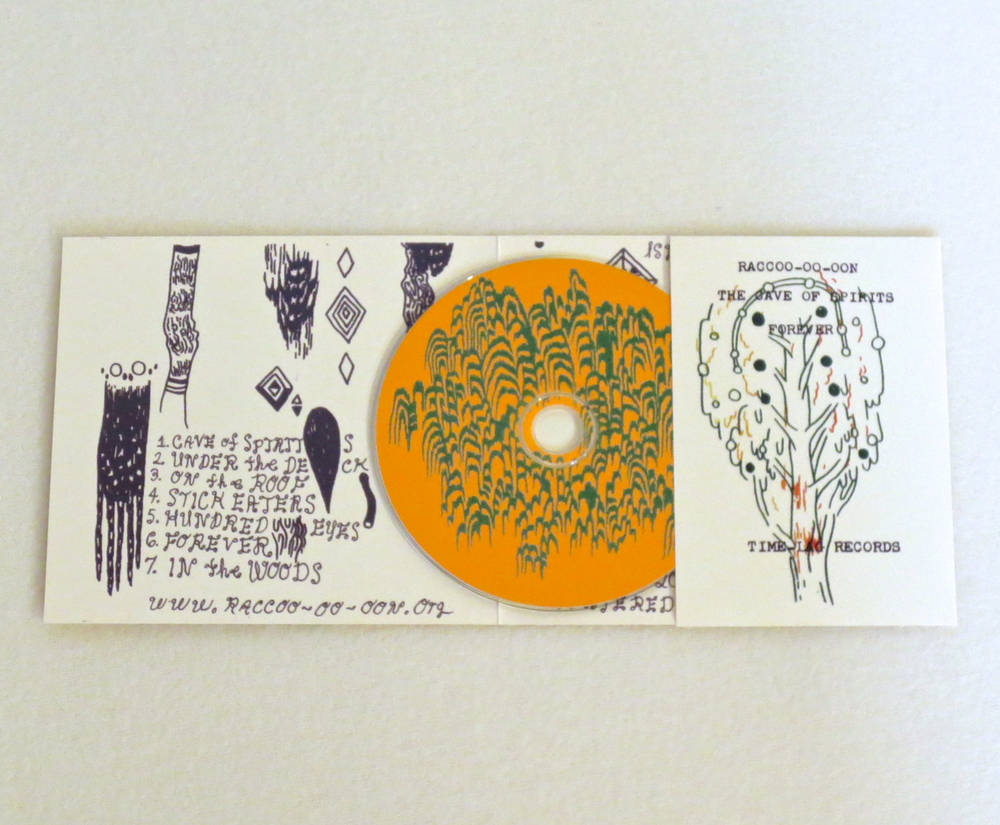 Image of RACCOO-OO-OON ~ THE CAVE OF SPIRITS FOREVER ~ cd (TIME-LAG 036)