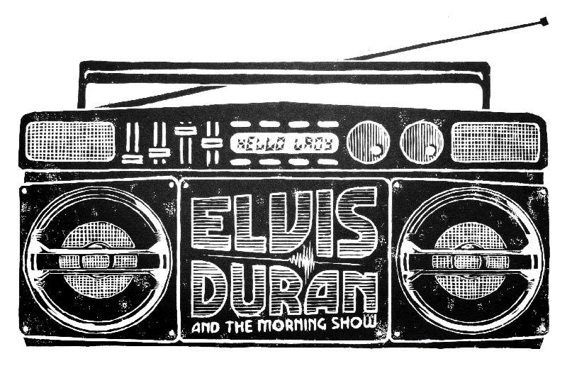 Image of Elvis Duran Tribute Woodblock