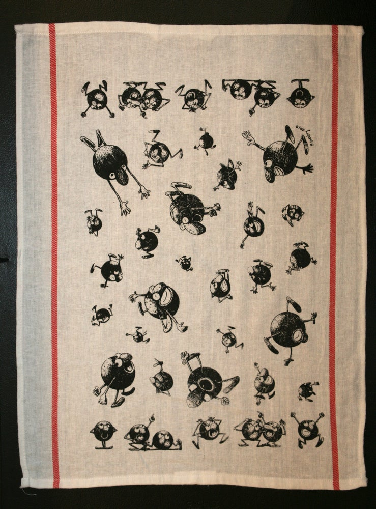 "Image of ""Petanque Boule Tea Towel"""