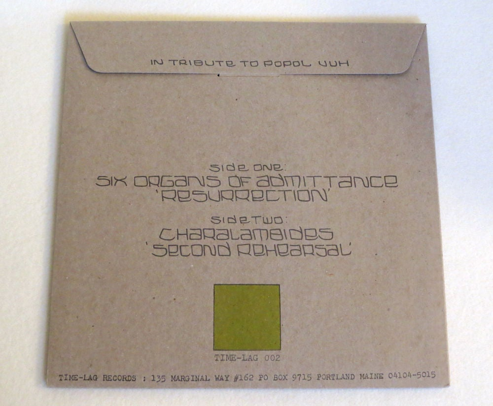 Image of SIX ORGANS OF ADMITTANCE / CHARALAMBIDES ~ SONGS FROM THE ENTOPTIC GARDEN VOL. 2 ~ lp (TIME-LAG 002)