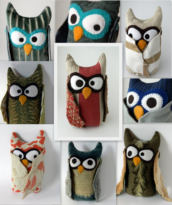 Image of Owl Plush Doll or Decorative Pillow - Made to Order