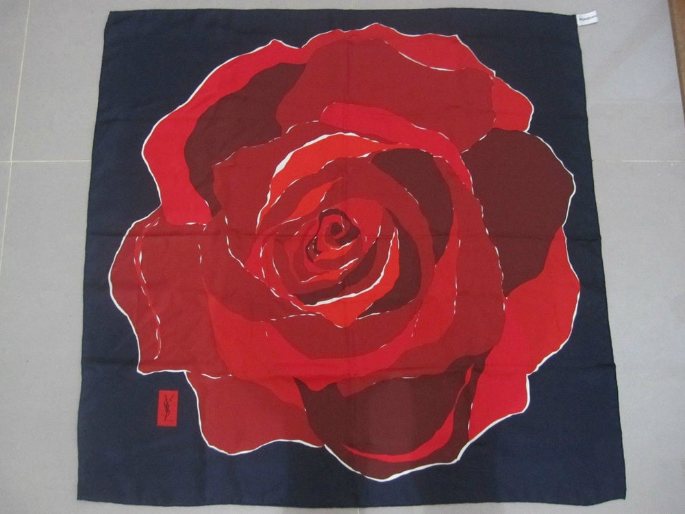 Image of YSL Yves Saint Laurent Authentic Scarf Made In Italy