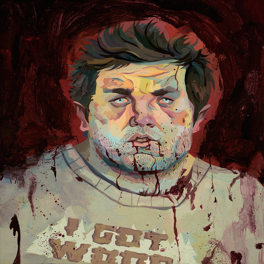 Image of Ed (Shaun of the Dead) Original Painting