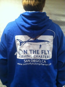 Image of Royal blue and grey hoodie