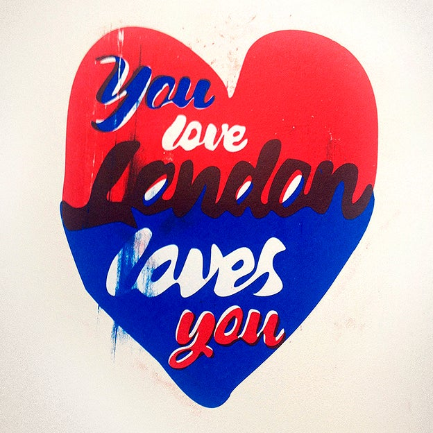 Image of You Love London Loves You Screen Print