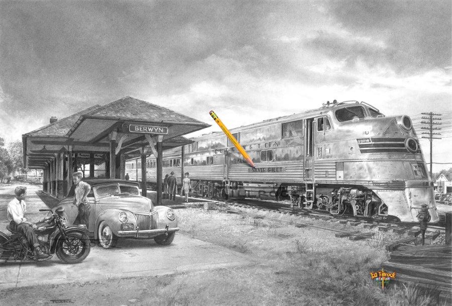 "Image of ""Silver Pilot"" 11x17 print"