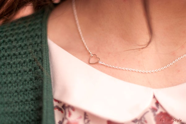 Image of Collar Delicate Heart Plateado