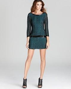 Image of Parker-Sequin open back dress