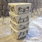 Image of illustrated tiny cube dishes -- made to order