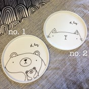 Image of illustrated round plates