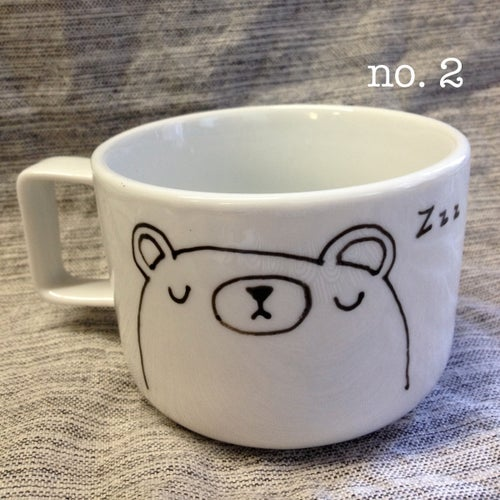 Image of pudgy bear mugs #1 & #2 -- made to order