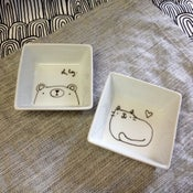 Image of little square dishes