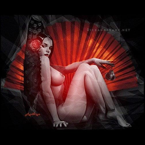 Image of  Day 8 of Flamenco February. Original & prints.
