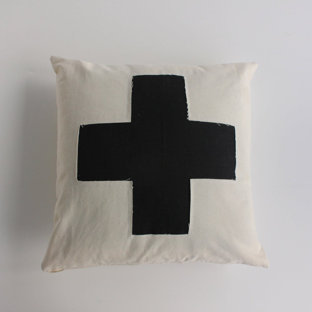 Image of Swiss Cross Pillow Cover