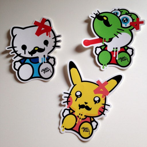 Image of Hello Kitty Stickers