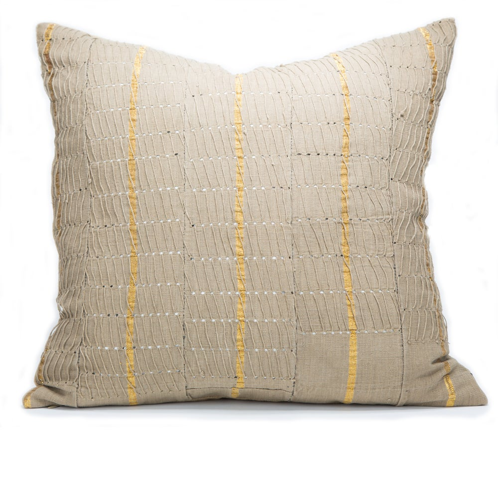 Image of YOLA PILLOW flax/ gold