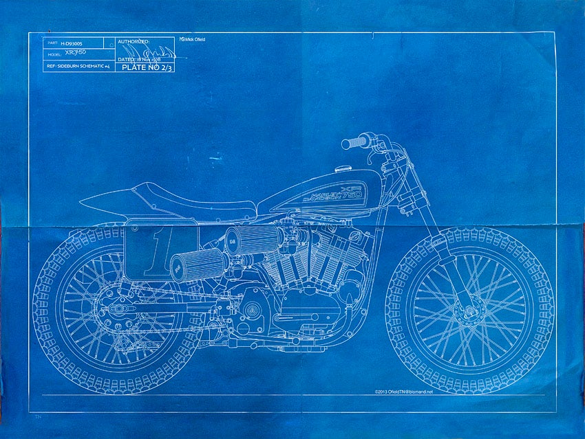 Xr750 giclee blueprint sideburn for Where to buy blueprint paper