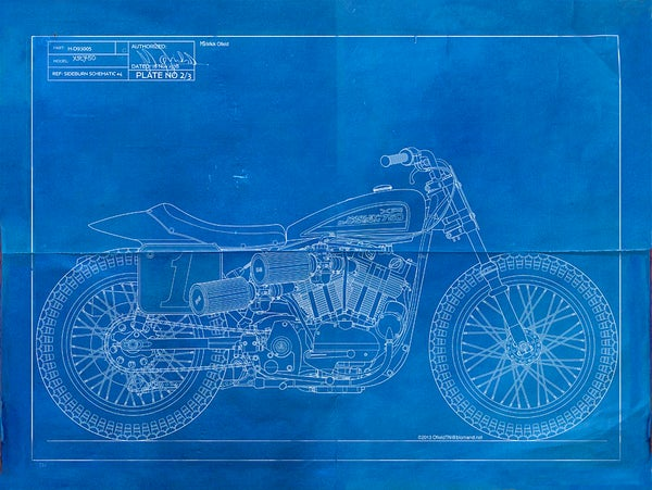 Image of XR750 Giclee blueprint