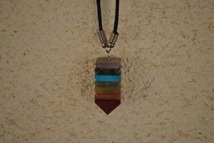 Image of 7 Stone Pyramid Chakra Aligning Pendant