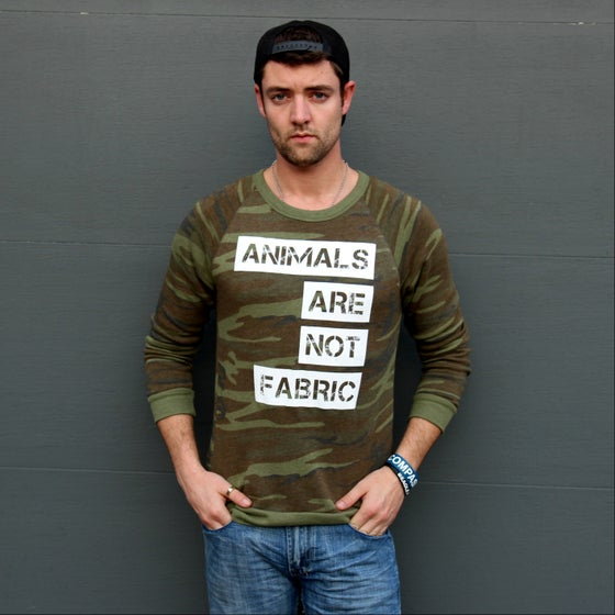 Image of Animals Are Not Fabric Camo Fleece Pullover