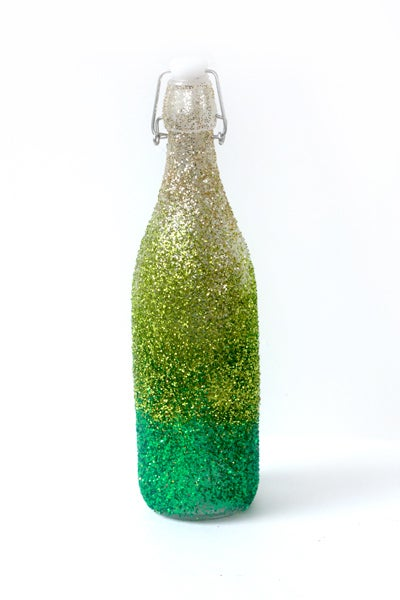Image of Ombré Glittered Bottle: Connacht Green