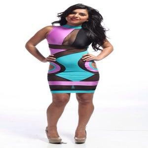 Image of Killa dress (black,turquoise,violet)