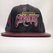 Image of Vintage Deadstock Phoenix Cardinals Leather JH Snapback Cap