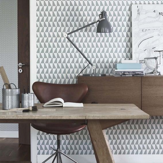 Image of Papel pintado Geométrico Trapez by Arne Jacobsen-Scandinavian designers
