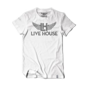 Image of Classic LH Wing Tee (Grey On White)