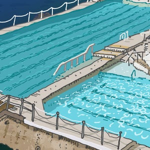 Image of Bondi Icebergs limited edition digital print