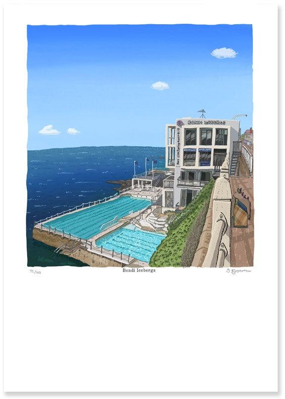 Image of Bondi Icebergs limited edition digital print