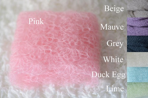 Image of Newborn Kid Mohair Lace Wrap/Blanket Photography Prop