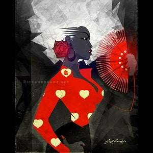 Image of  Day 11 of Flamenco February. Original & prints.