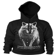 Image of Lone Wolf - Hooded Pullover Sweater