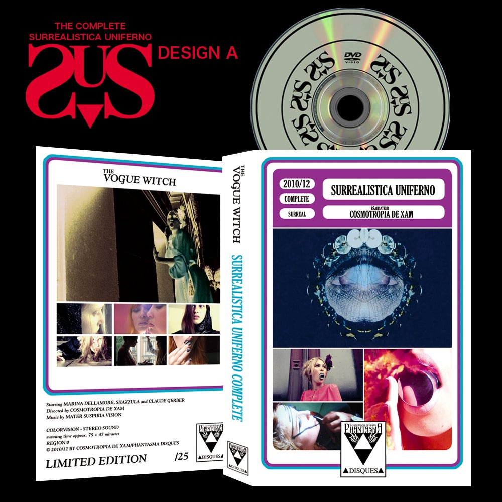 Image of PRE-ORDER: HARDBOX DESIGN A The Complete Surrealistica Uniferno DVD