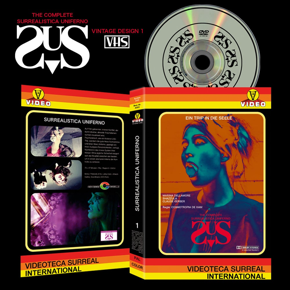 Image of [LIMITED 50 VINTAGE HARDBOX #1] SURREALISTICA UNIFERNO DVD
