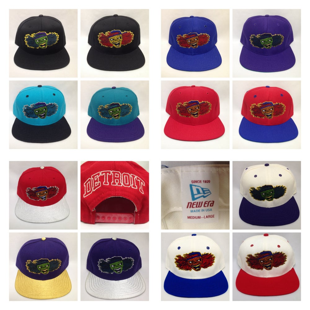 Image of Vintage Detroit Deadstock D'Eddie Blockhead New Era Snapbacks