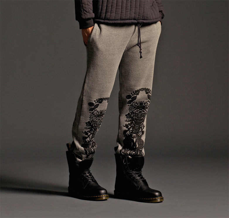 "Image of ""SILK ROAD"" FLEECE PANT (MONGOLIA EDITION)"