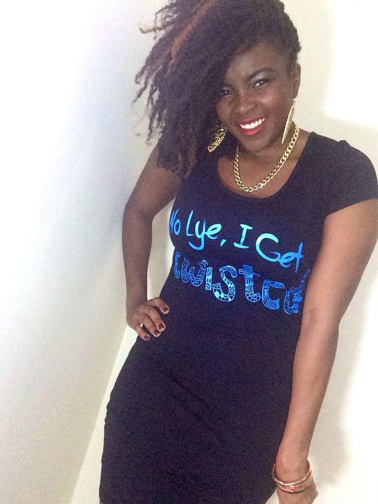 Image of Twisted Dress - No Lye I get Twisted