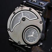 Image of Mens Steampunk Wrist Mechanical Watch - Anniversary Gifts For Men (WAT0066-White)