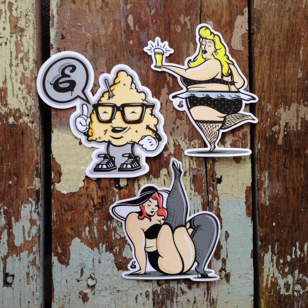 "Image of ""Sexy Gorditas"" Pin-ups sticker pack"
