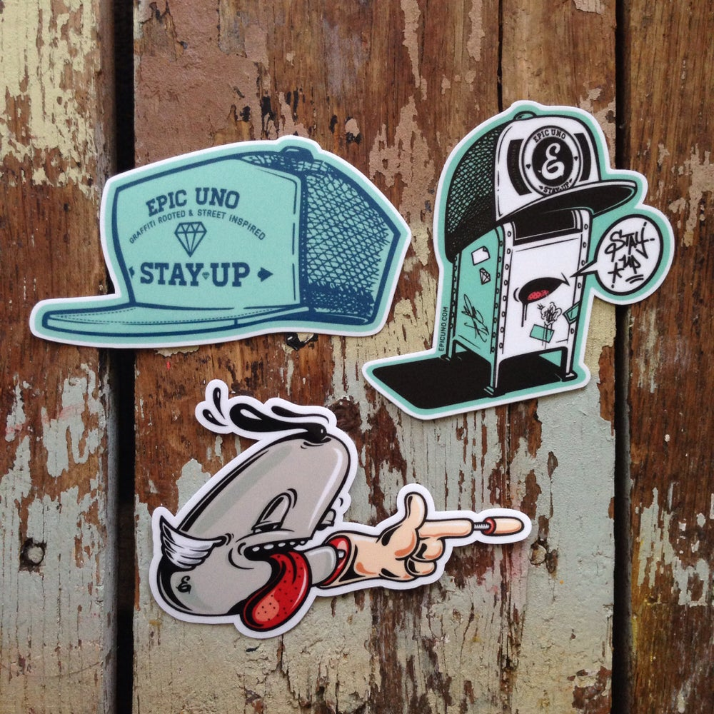 Image of Stay Up sticker pack