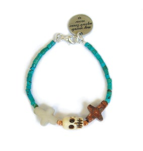 Image of Crossed Lover Bracelet (Turquoise 1.0)