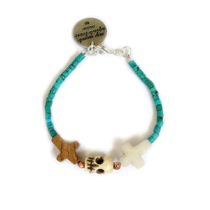 Image of Crossed Lover Bracelet (Turquoise 2.0)