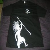 Image of White Rasta - Black Shirt