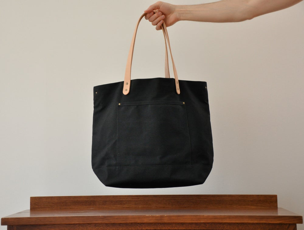 Image of Carryall Bag - Black or Navy Waxed Canvas
