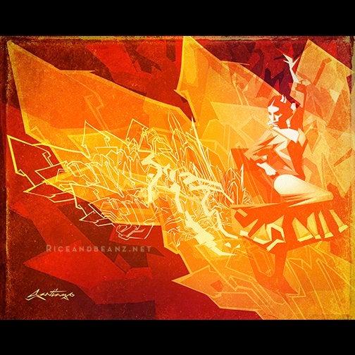Image of  Day 13 of Flamenco February. Original & prints.