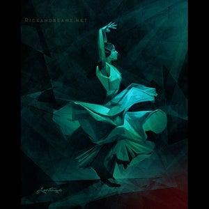 Image of  Day 14 of Flamenco February. Original & prints.