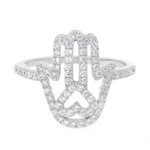 Image of Ladies Hamsa Ring
