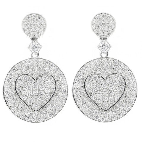 Image of Flat Heart Earrings